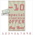 Sale offer old retro vintage background vector