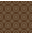 Dark brown colors round grid pattern vector