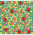 Fruit background round vector