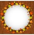 Autumn design frame wreath of colorful maple vector