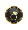 Ring icon vector