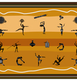 Seamless pattern with figures of primitive people vector