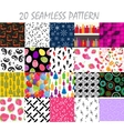Seamless pattern background set vector