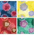 Seamless background flower bouquet set vector