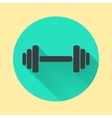 Abstract dumbbell icon vector