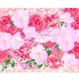 Floral background bouquet of roses and orchids vector