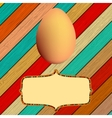 Wooden background with easter eggs  eps8 vector