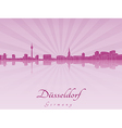 Dusseldorf skyline in purple radiant orchid vector