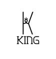 King monogram vector