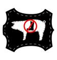 No pigskin boots vector