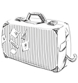 Journey suitcase vector