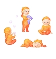 Set of babies on a white background vector