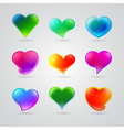 Collection of different color hearts vector
