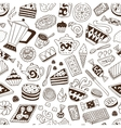 Coffee and sweets - seamless background vector
