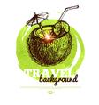 Travel tropical design banner vector