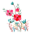 Background with flowers in retro style vector