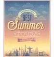 Summer tours vector