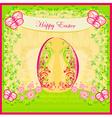 Easter egg on floral background vector