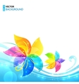 Bright shining flowers background vector
