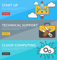 Flat design concept for start up technical support vector