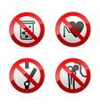 Set prohibited signs - medicine vector