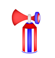 Red white and blue stripe of air horn vector