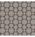 Dots circles white seamless pattern on dark brown vector