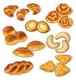 Pastry set vector