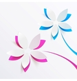 Greeting card background with paper flowers vector