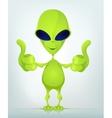 Funny alien vector