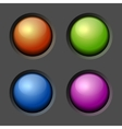 Design elements color buttons and bulbs vector