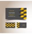 Taxi business card set vector