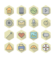 Thin line icons for interface vector