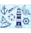 Nautical collection - hand-drawn vector