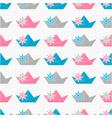 Paper boat pattern vector