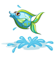 A cute fish at the sea vector