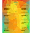 Abstract 2015 year polygonal calendar vector