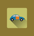 Cartoon car flat icon vector