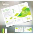 Brochure folder leaflet bio eco green leaf nature vector
