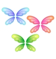 Set of butterfly wings vector