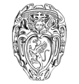 Old historical heraldic design of building in roma vector