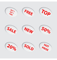 Collection of red sale icons vector