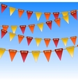 Celebration flags on rope vector