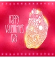 Doodle heart valentines day vector