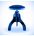 Stool for piano vector