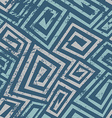 Ancient blue spiral seamless pattern with grunge vector