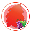 A round empty template with grapes vector