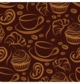 Coffee break seamless background vector