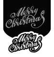 Merry christmas hand-written text vector