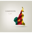 Flag of cameroon as a country vector